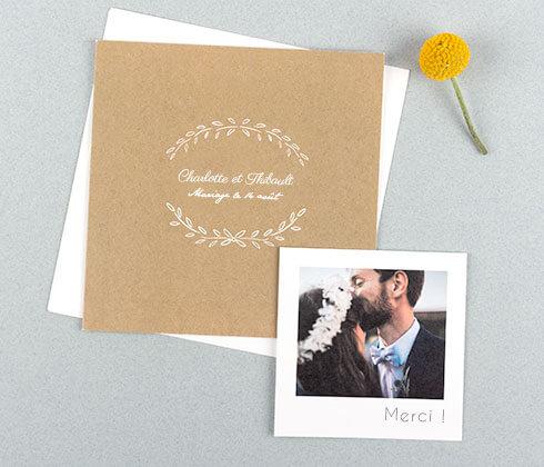 Faire-part de mariage personnalisé - Atelier Rosemood