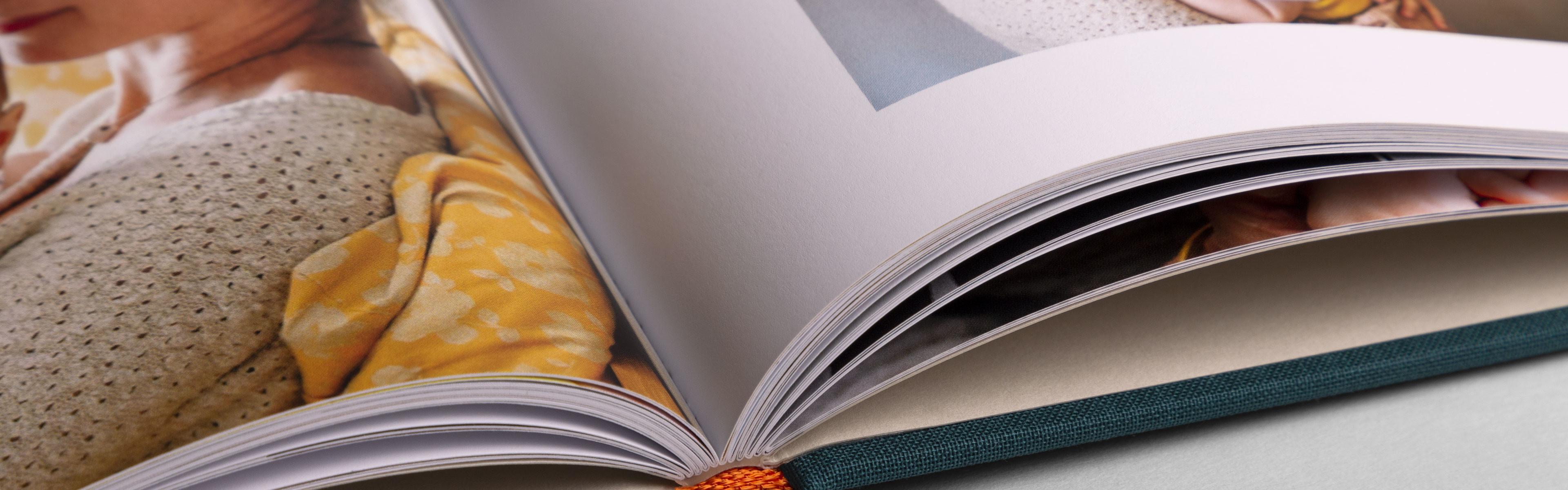 Créer album photo couverture tissu