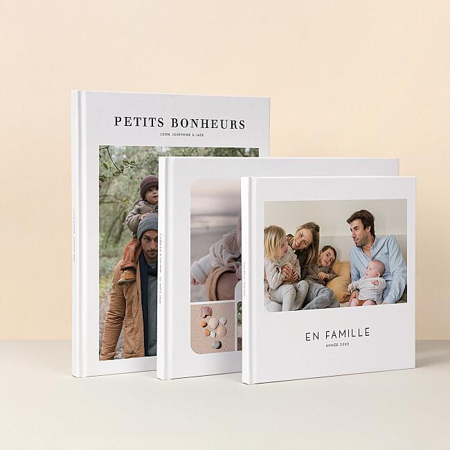 Nos modèles d'album photo avec couverture rigide imprimée