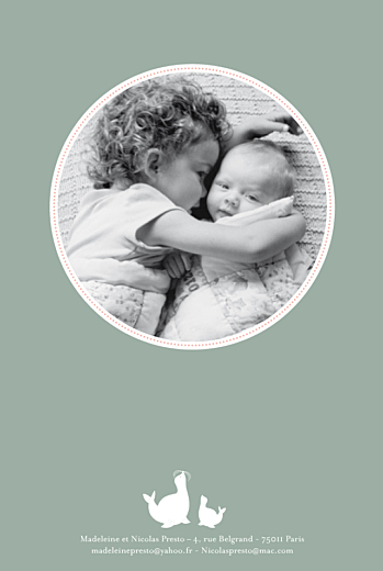 Faire-part de naissance 2 otaries vert
