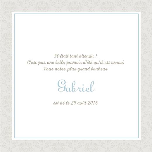Faire-part de naissance Ambiance florale 4p garçon - Page 3