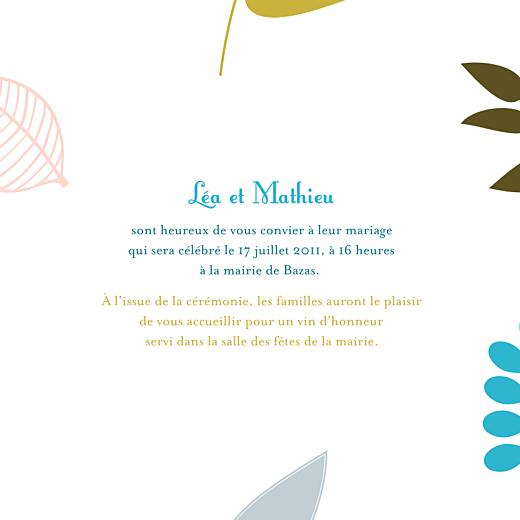 Faire-part de mariage Forêt 4p bleu - Page 3