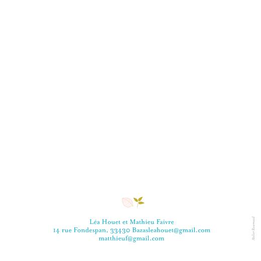 Faire-part de mariage Forêt 4p bleu - Page 4