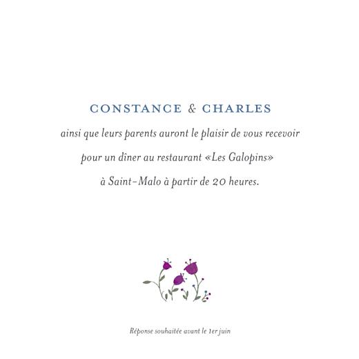 Carton d'invitation mariage Floraison blanc - Page 1
