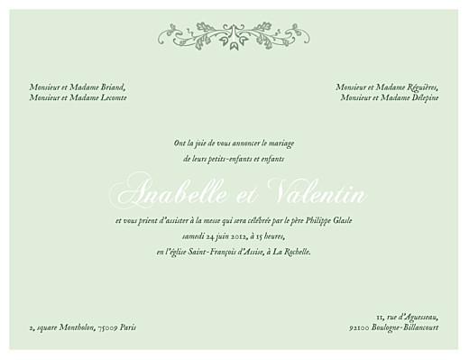 Faire-part de mariage Charme vert - Page 1