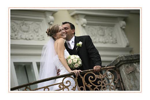 Carte de remerciement mariage Initiales photo