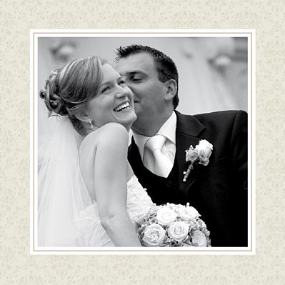 Carte de remerciement mariage Nous deux marron finition