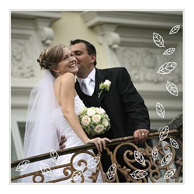 Carte de remerciement mariage Nature marron dessin finition