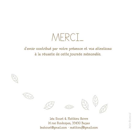 Carte de remerciement mariage Nature marron dessin - Page 2