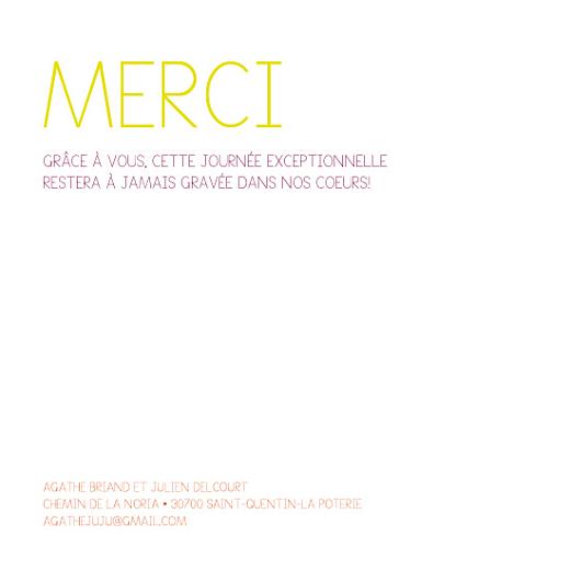 Carte de remerciement mariage Pop art cadre vert - Page 2
