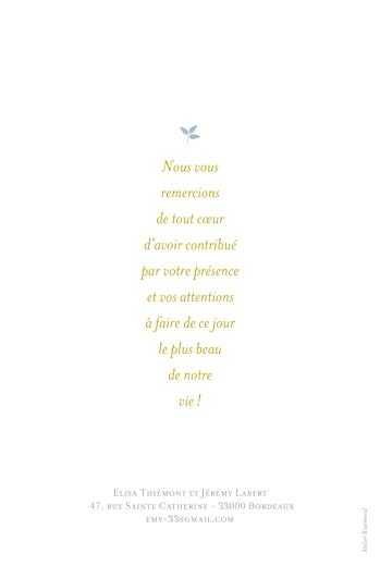 Carte de remerciement mariage Forêt bleu - Page 2