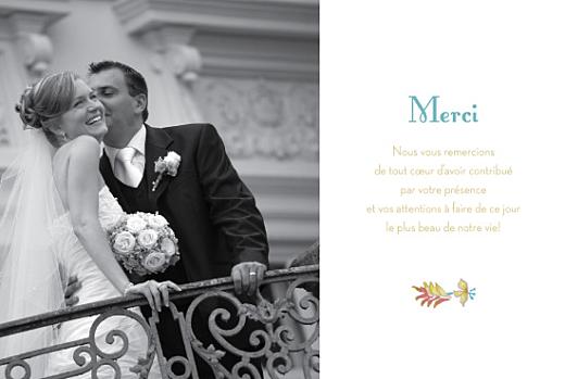 Carte de remerciement mariage Floral vert