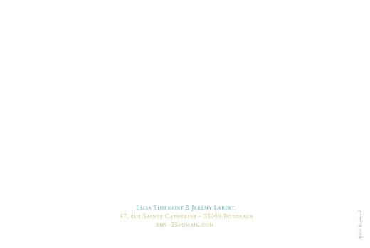 Carte de remerciement mariage Floral vert - Page 2