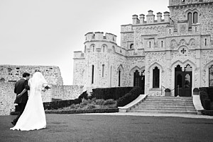 Carte de remerciement mariage avec photo plein la vue ! (paysage) photo