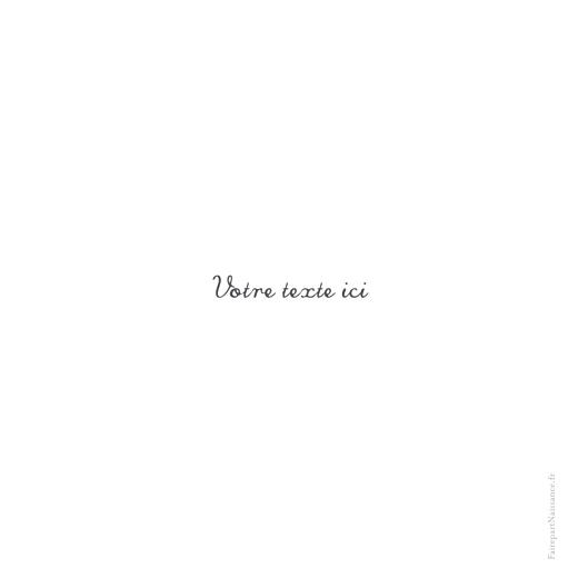 Carte de remerciement Vierge carré blanc - Page 2