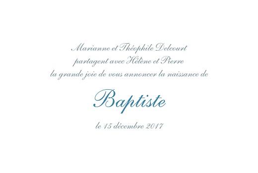 Faire-part de naissance Tradition bleu - Page 3