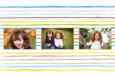 Carte de voeux Une année en couleurs ! prune finition
