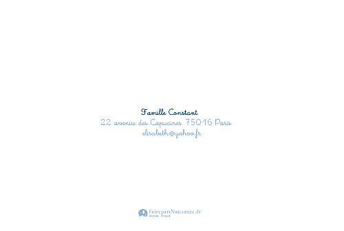 Faire-part de naissance File à linge jumeaux bleu - Page 4