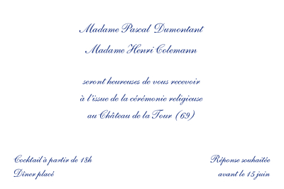 Carton d'invitation mariage Élégant rv blanc finition