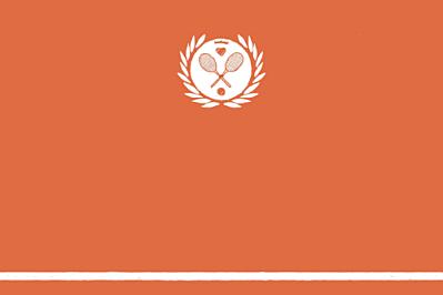 Carton d'invitation mariage Tennis orange finition