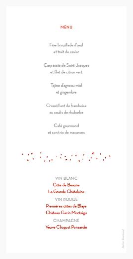 Menu de mariage En route ! gris rouge - Page 2