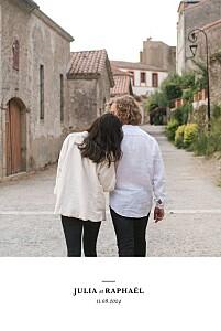 Faire-part de mariage photos tout simplement blanc