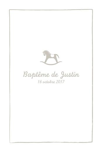 Menu de baptême Petit cheval taupe