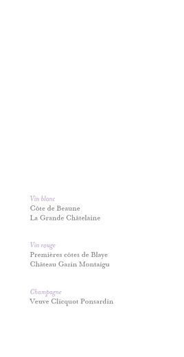 Menu de mariage Élégant blanc - Page 2