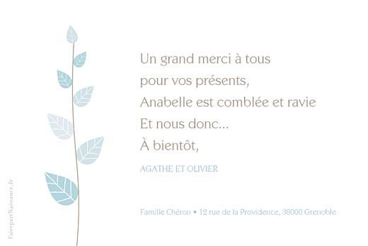 Carte de remerciement Petit élégance garcon rv bleu - Page 2