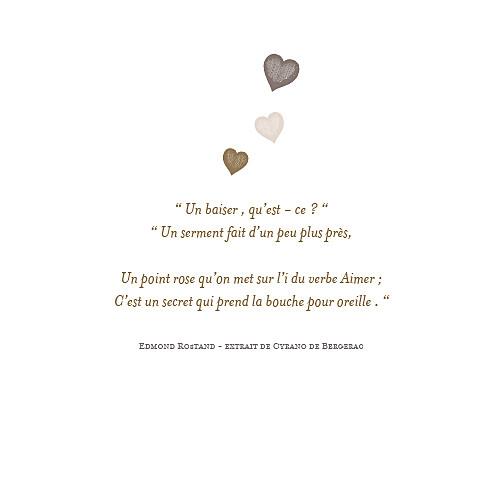 Faire-part de mariage Petits coeurs taupe - Page 2