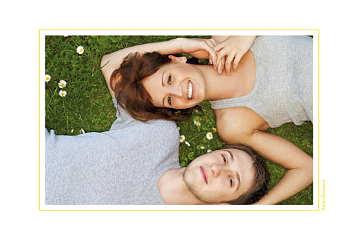 Carte de remerciement mariage Voiture de collection jaune - Page 2