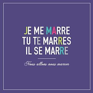 Faire-part de mariage violet marrons-nous (4 pages) violet