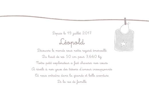Faire-part de naissance Linge peluche garçon photo taupe - Page 3
