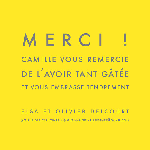 Carte de remerciement Mini the photo justifié citron - Page 2