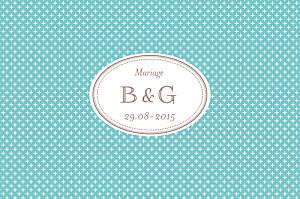 Carton d'invitation mariage Motif chic turquoise