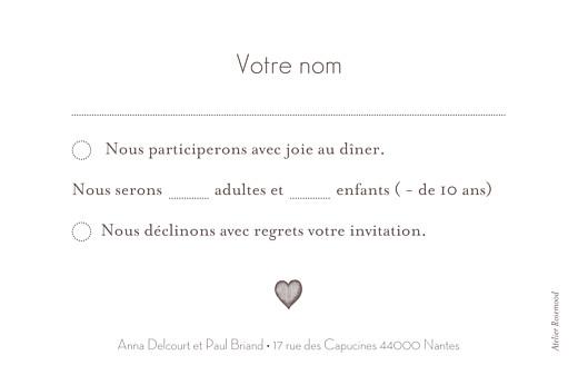 Carton réponse mariage Petits coeurs cappuccino - Page 2
