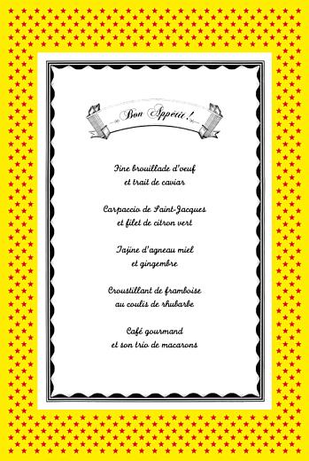 Menu de mariage Festival rouge - Page 3