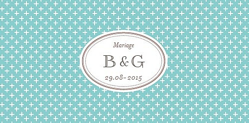 Marque-place mariage Motif chic turquoise - Page 4