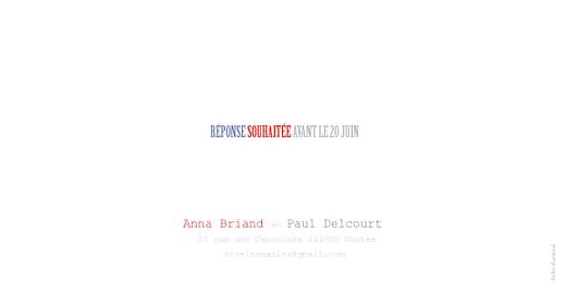 Faire-part de mariage Paris bleu-rouge-gris - Page 4