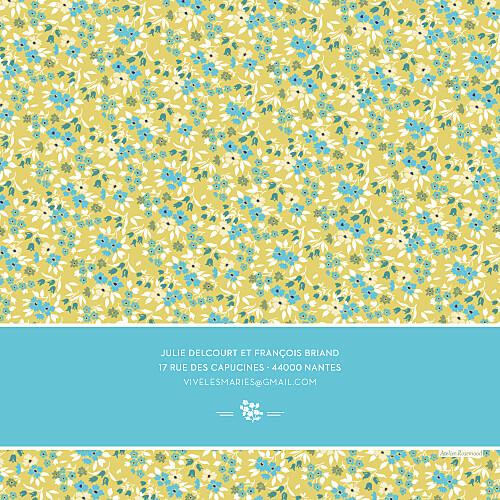 Faire-part de mariage Liberty turquoise - Page 4