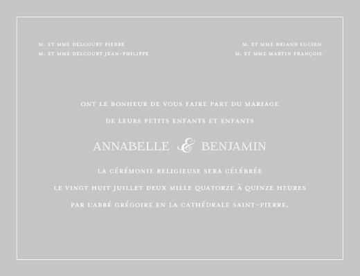 Faire-part de mariage Classique liseré (4 pages) gris - Page 3