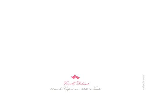 Carte de remerciement Merci poétique paysage rose - Page 2