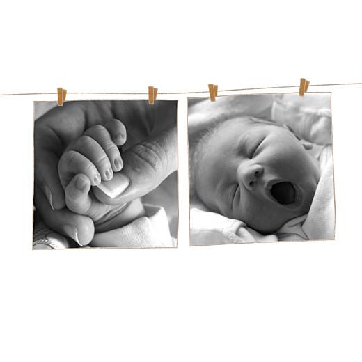 Faire-part de naissance Poétique 3 photos rose - Page 2