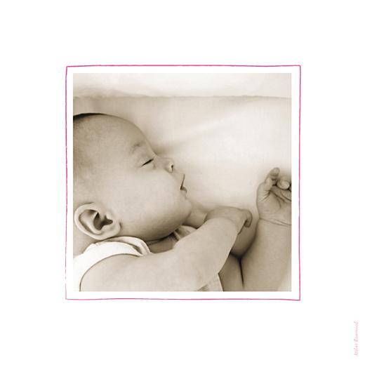 Faire-part de baptême Petits anges photo rose - Page 2
