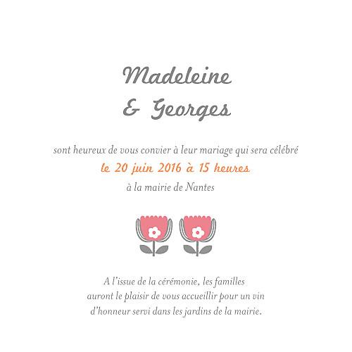 Faire-part de mariage Seventies (4 pages) orange rose - Page 3
