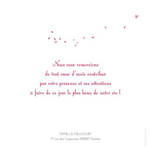 Carte de remerciement mariage Bouquet 4 photos rouge - Page 2