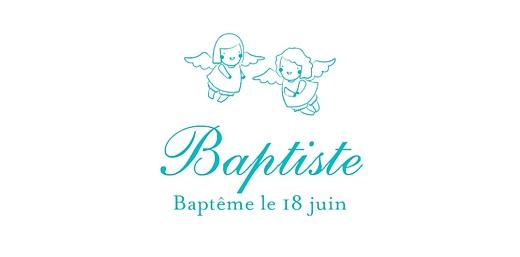 Marque-place Baptême Ange turquoise - Page 4