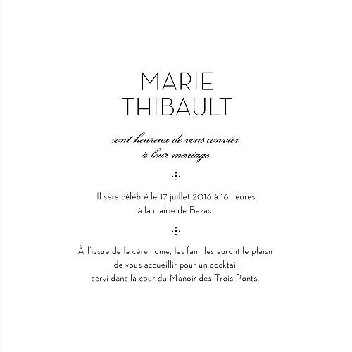 Faire-part de mariage Boudoir beige noir - Page 3