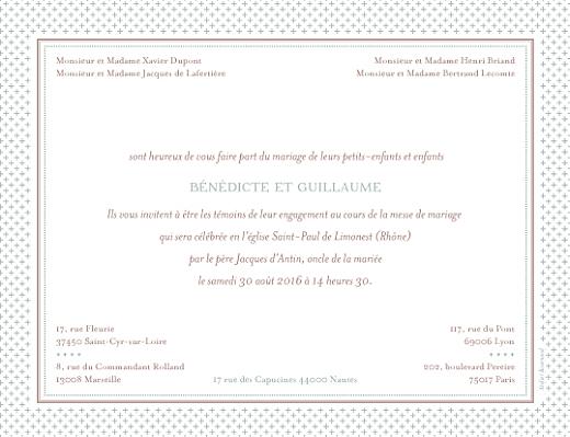 Faire-part de mariage Motif chic vert de gris - Page 2
