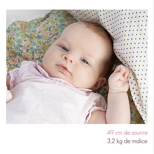 Faire-part de naissance Simple 3 photos blanc - Page 2